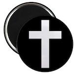 White Cross Magnet