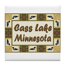 Cass Lake Loon Tile Coaster