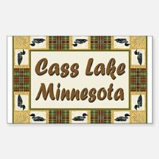 Cass Lake Loon Rectangle Decal