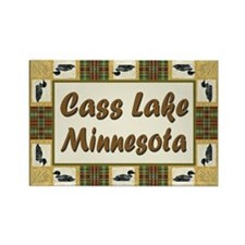 Cass Lake Loon Rectangle Magnet (100 pack)