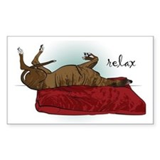 Relax Greyhound Rectangle Decal