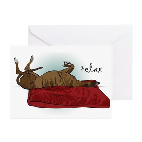 Relax Greyhound Greeting Cards (Pk of 10)