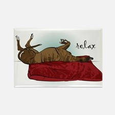Relax Greyhound Rectangle Magnet
