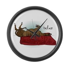 Relax Greyhound Large Wall Clock