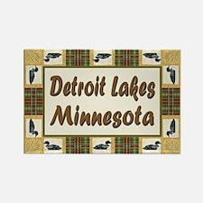 Detroit Lakes Loon Rectangle Magnet