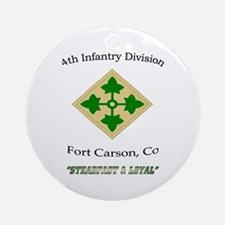 "4th inf div ""Steadfast and lo Ornament (Round"