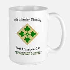 "4th inf div ""Steadfast and lo Large Mug"