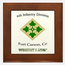 """4th inf div """"Steadfast and lo Framed Tile"""