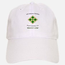 "4th inf div ""Steadfast and lo Baseball Baseball Cap"