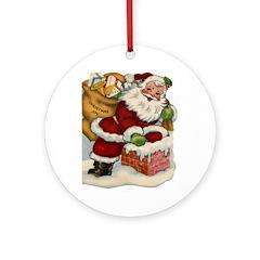 Vintage Christmas Ornaments Ornament (Round)