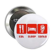 "Eat Sleep Santa 2.25"" Button (10 pack)"