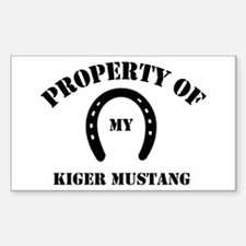 My Kiger Mustang Rectangle Decal