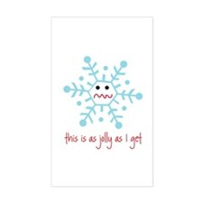 grumpy snowflake Rectangle Sticker