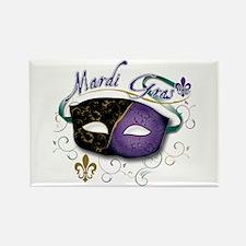 Mardi Gras 2 Rectangle Magnet (10 pack)