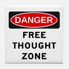 Free Thought Tile Coaster