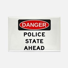Police State Rectangle Magnet