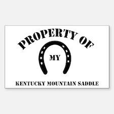 My Kentucky Mountain Saddle Rectangle Decal