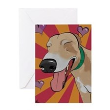 Love Greyhound Greeting Card