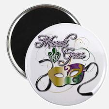 "Mardi Gras 3 2.25"" Magnet (100 pack)"