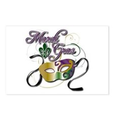Mardi Gras 3 Postcards (Package of 8)
