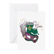 Mardi Gras 4 Greeting Cards (Pk of 20)