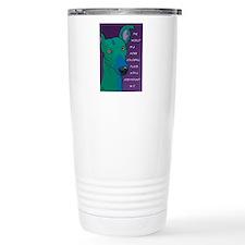 Colorful Greyhound Travel Mug