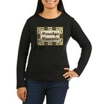 Menahga Loon Women's Long Sleeve Dark T-Shirt
