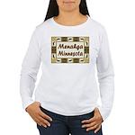 Menahga Loon Women's Long Sleeve T-Shirt