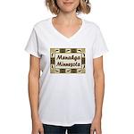 Menahga Loon Women's V-Neck T-Shirt