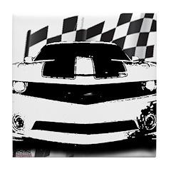 Drag Racing Tile Coaster