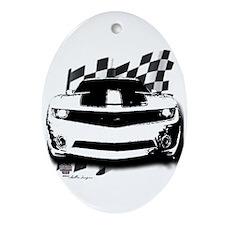 Drag Racing Oval Ornament