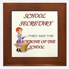 Cool School secretary Framed Tile