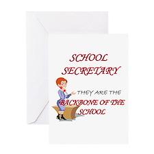 Cute School secretary day Greeting Card