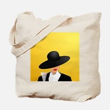 Lady holding Champagne Tote Bag