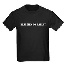 """Real Men Do Ballet"" Boys Dark T-Shirt"