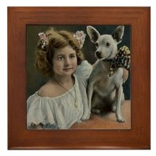 Framed Victorian Rat Terrier Tile