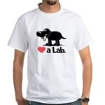 Love a Lab (Black) - White T-Shirt