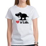 Love a Lab (Black) - Women's T-Shirt