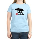 Love a Lab (Black) - Women's Light T-Shirt