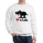 Love a Lab (Black) - Sweatshirt