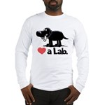 Love a Lab (Black) - Long Sleeve T-Shirt