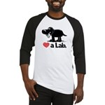Love a Lab (Black) - Baseball Jersey