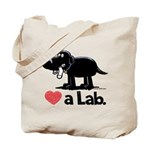Love a Lab (Black) - Tote Bag