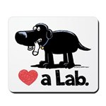 Love a Lab (Black) - Mousepad