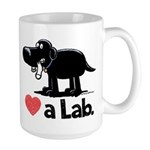 Love a Lab (Black) - Large Mug