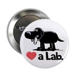 Love a Lab (Black) - 2.25