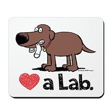 Love a Lab (Chocolate) - Mousepad