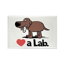 Love a Lab (Chocolate) - Rectangle Magnet