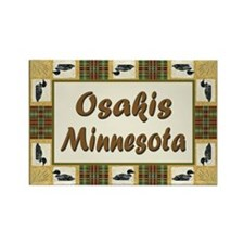 Osakis Loon Rectangle Magnet (100 pack)