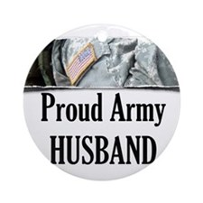 Cute Army husband Ornament (Round)